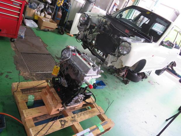 ミラジーノエンジン載せ替え (7).JPG