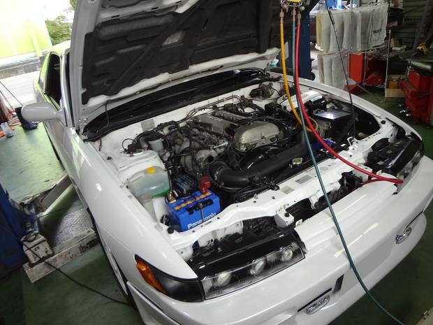 エアコン修理_シルビア(E-PS13)_2.JPG